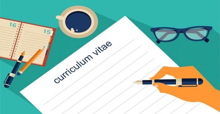 cara membuat curriculum vitae