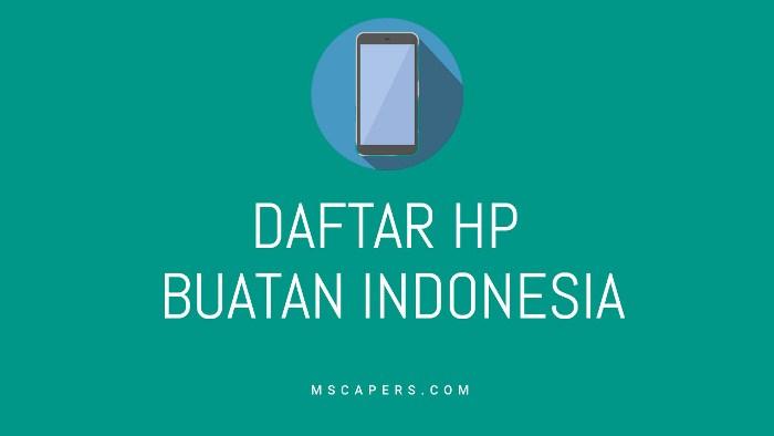 hp buatan indonesia